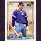1992 Topps Baseball #469 Jim Eisenreich - Kansas City Royals