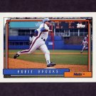 1992 Topps Baseball #457 Hubie Brooks - New York Mets
