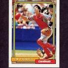 1992 Topps Baseball #448 Tom Pagnozzi - St. Louis Cardinals
