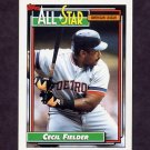 1992 Topps Baseball #397 Cecil Fielder AS - Detroit Tigers