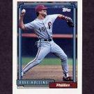 1992 Topps Baseball #383 Dave Hollins - Philadelphia Phillies