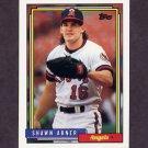 1992 Topps Baseball #338 Shawn Abner - California Angels