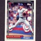 1992 Topps Baseball #297 Kevin Brown - Texas Rangers
