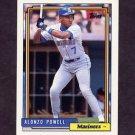 1992 Topps Baseball #295 Alonzo Powell - Seattle Mariners