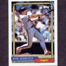 1992 Topps Baseball #230 Dick Schofield - California Angels