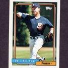 1992 Topps Baseball #228 Eddie Whitson - San Diego Padres