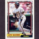 1992 Topps Baseball #209 Lloyd McClendon - Pittsburgh Pirates