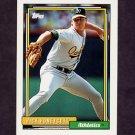 1992 Topps Baseball #202 Rick Honeycutt - Oakland A's