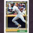 1992 Topps Baseball #187 Ernie Riles - Oakland A's