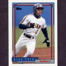 1992 Topps Baseball #170 Alex Cole - Cleveland Indians