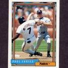1992 Topps Baseball #162 Paul Faries - San Diego Padres