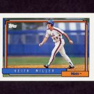 1992 Topps Baseball #157 Keith Miller - New York Mets