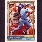 1992 Topps Baseball #145 Danny Tartabull - Kansas City Royals