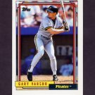 1992 Topps Baseball #122 Gary Varsho - Pittsburgh Pirates