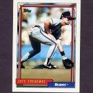 1992 Topps Baseball #099 Jeff Treadway - Atlanta Braves