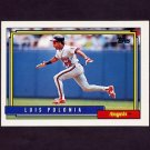 1992 Topps Baseball #037 Luis Polonia - California Angels