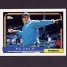 1992 Topps Baseball #028 Mike Schooler - Seattle Mariners