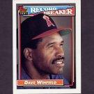 1992 Topps Baseball #005 Dave Winfield RB - California Angels