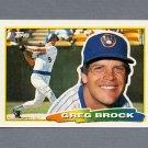 1988 Topps BIG Baseball #217 Greg Brock - Milwaukee Brewers
