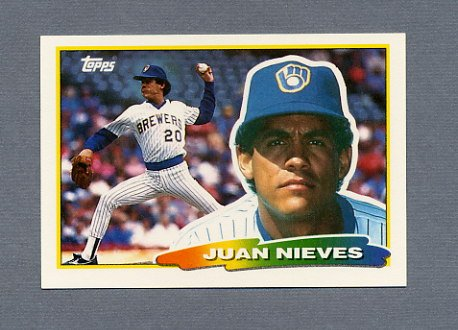 1988 Topps BIG Baseball #190 Juan Nieves - Milwaukee Brewers