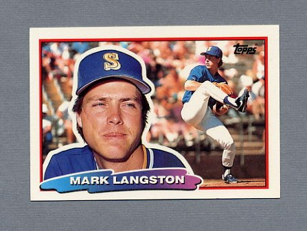 1988 Topps BIG Baseball #176 Mark Langston - Seattle Mariners