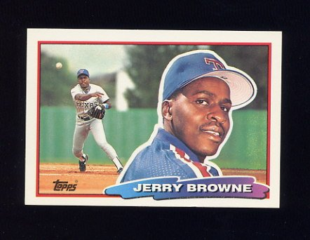 1988 Topps BIG Baseball #163 Jerry Browne - Texas Rangers