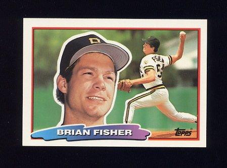 1988 Topps BIG Baseball #159 Brian Fisher - Pittsburgh Pirates