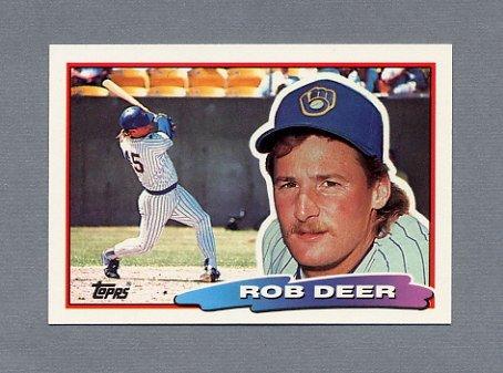 1988 Topps BIG Baseball #151 Rob Deer - Milwaukee Brewers