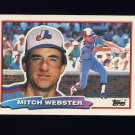 1988 Topps BIG Baseball #150 Mitch Webster - Montreal Expos