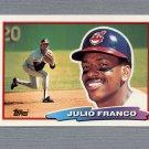 1988 Topps BIG Baseball #135 Julio Franco - Cleveland Indians