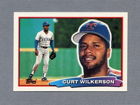 1988 Topps BIG Baseball #132 Curt Wilkerson - Texas Rangers