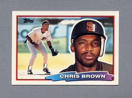 1988 Topps BIG Baseball #130 Chris Brown - San Diego Padres