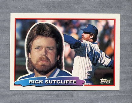 1988 Topps BIG Baseball #128 Rick Sutcliffe - Chicago Cubs