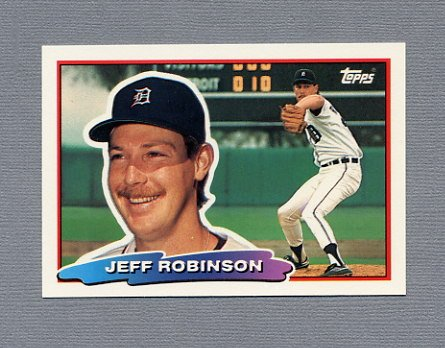 1988 Topps BIG Baseball #123 Jeff D. Robinson - Detroit Tigers