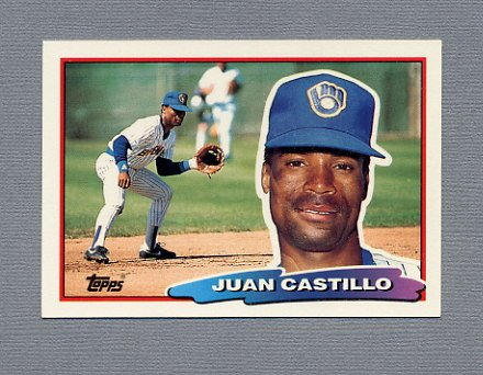 1988 Topps BIG Baseball #117 Juan Castillo - Milwaukee Brewers