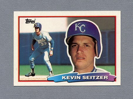 1988 Topps BIG Baseball #115 Kevin Seitzer - Kansas City Royals
