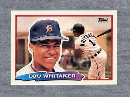 1988 Topps BIG Baseball #099 Lou Whitaker - Detroit Tigers