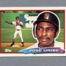 1988 Topps BIG Baseball #095 Jose Uribe - San Francisco Giants
