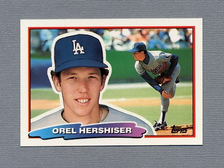 1988 Topps BIG Baseball #091 Orel Hershiser - Los Angeles Dodgers