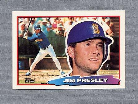 1988 Topps BIG Baseball #090 Jim Presley - Seattle Mariners