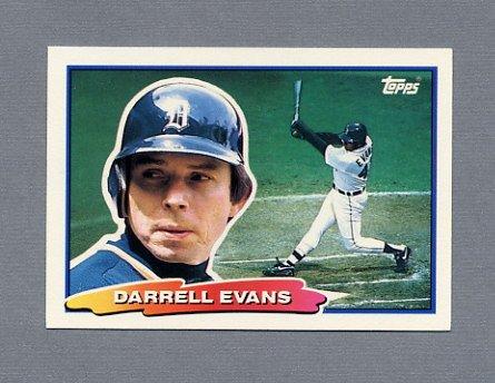 1988 Topps BIG Baseball #082 Darrell Evans - Detroit Tigers