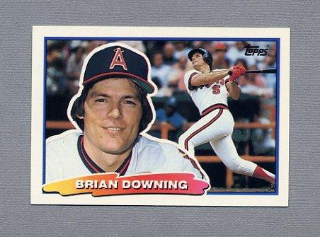 1988 Topps BIG Baseball #078 Brian Downing - California Angels