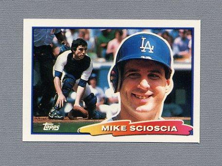 1988 Topps BIG Baseball #072 Mike Scioscia - Los Angeles Dodgers