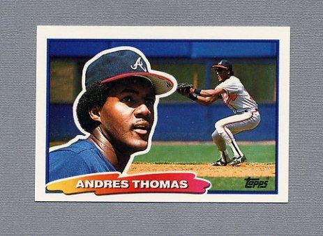 1988 Topps BIG Baseball #068 Andres Thomas - Atlanta Braves