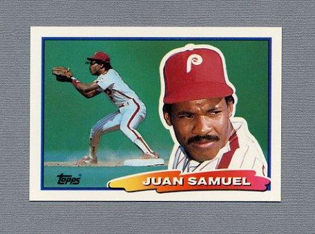 1988 Topps BIG Baseball #067 Juan Samuel - Philadelphia Phillies