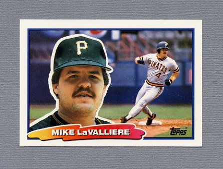 1988 Topps BIG Baseball #061 Mike LaValliere - Pittsburgh Pirates