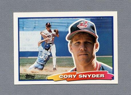 1988 Topps BIG Baseball #043 Cory Snyder - Cleveland Indians