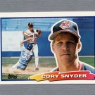 1988 Topps BIG Baseball #043 Cory Snyder - Cleveland Indians