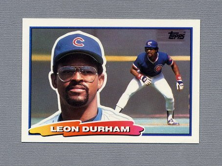 1988 Topps BIG Baseball #042 Leon Durham - Chicago Cubs