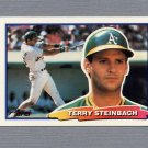 1988 Topps BIG Baseball #039A Terry Steinbach - Oakland A's